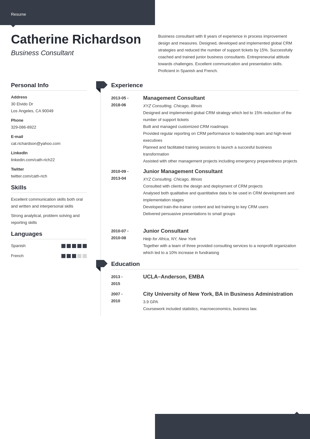consultant resume example template modern