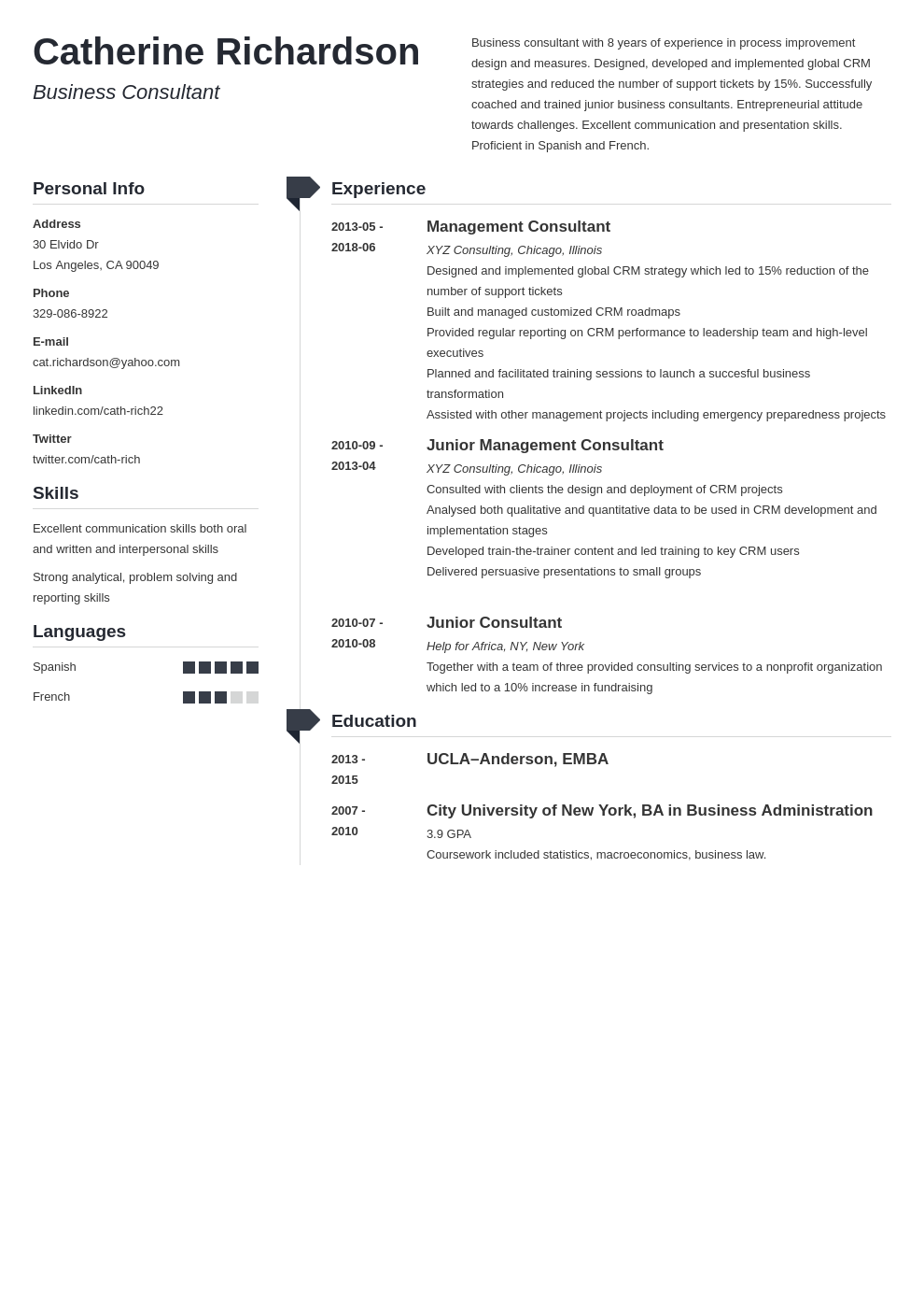 consultant resume example template muse