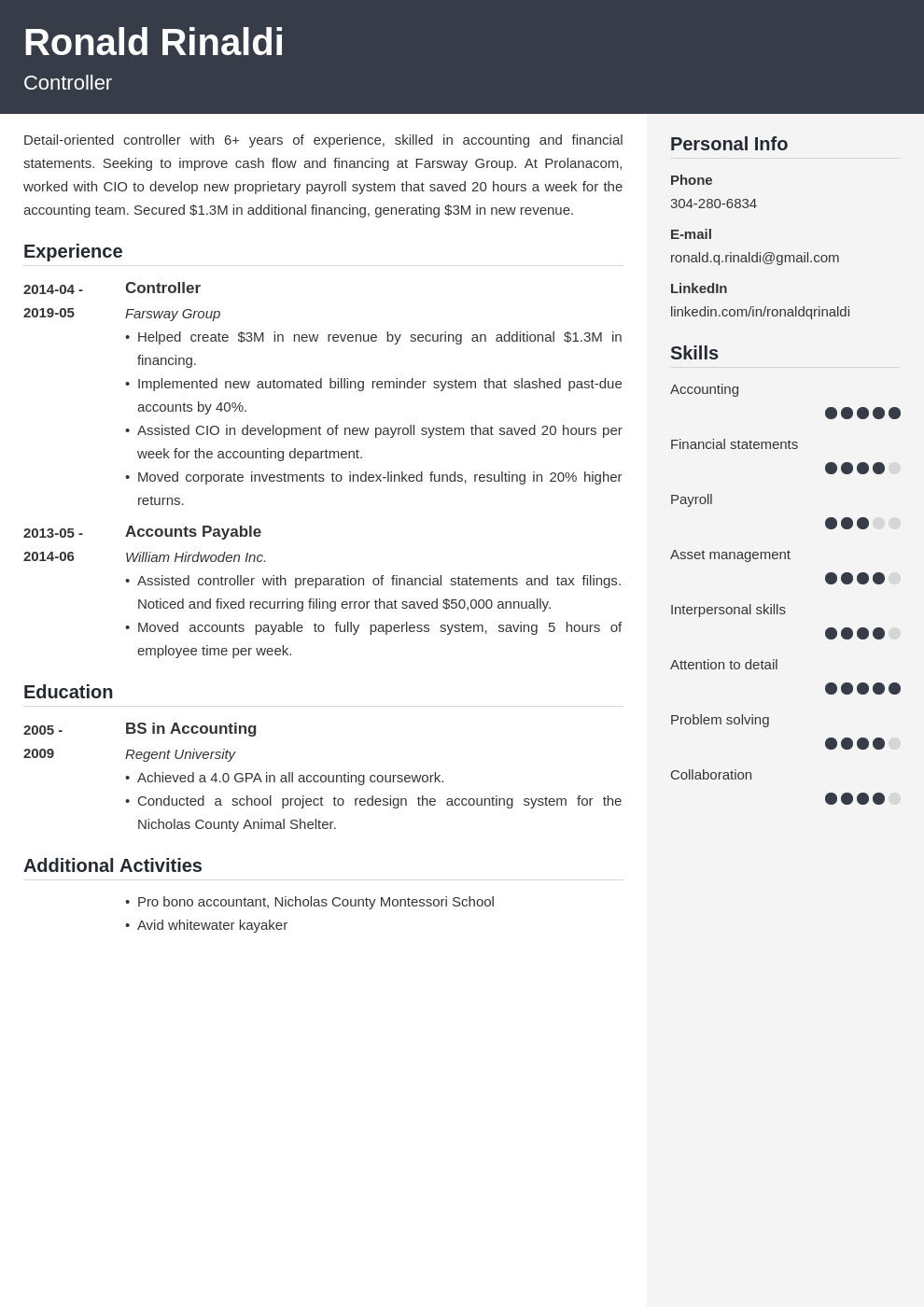 controller resume example template cubic