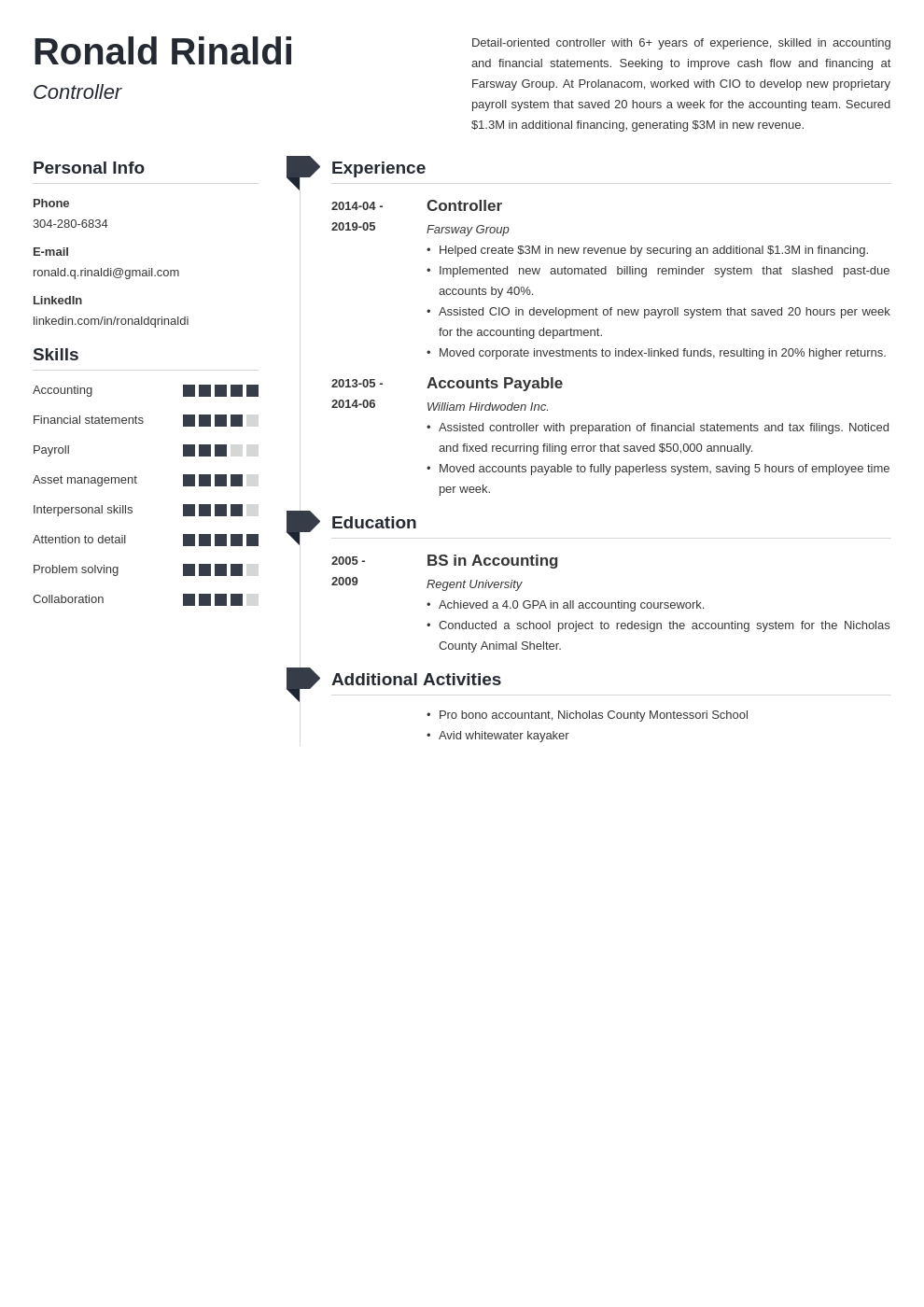 controller resume sample financial  assistant positions