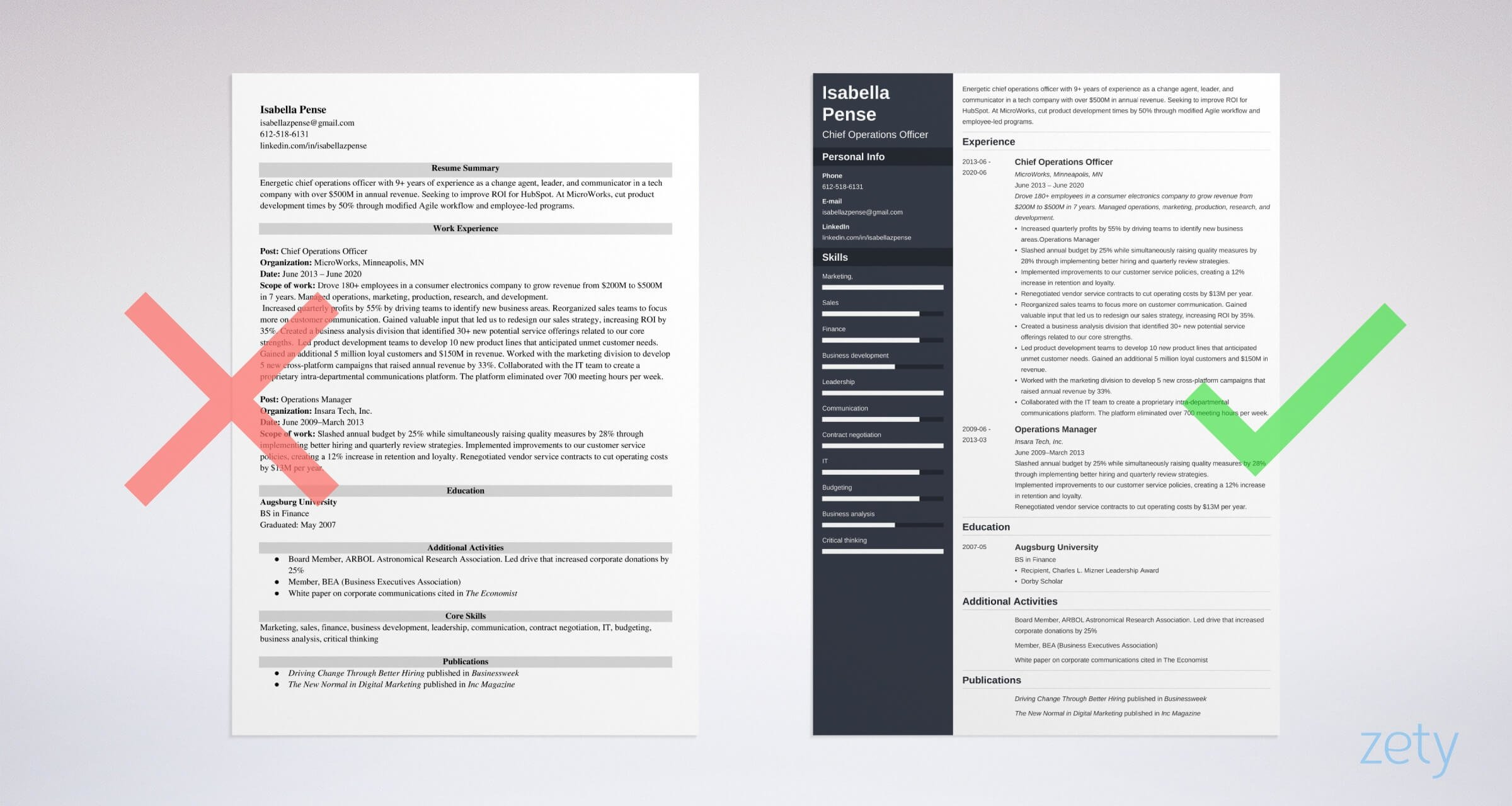 coo chief operations officer resume templates