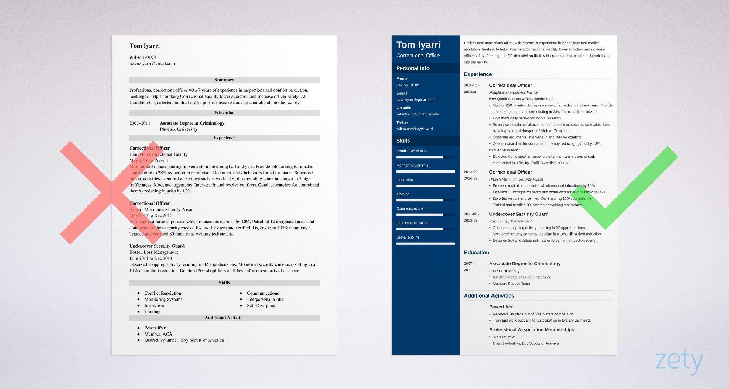corrections officer resume templates