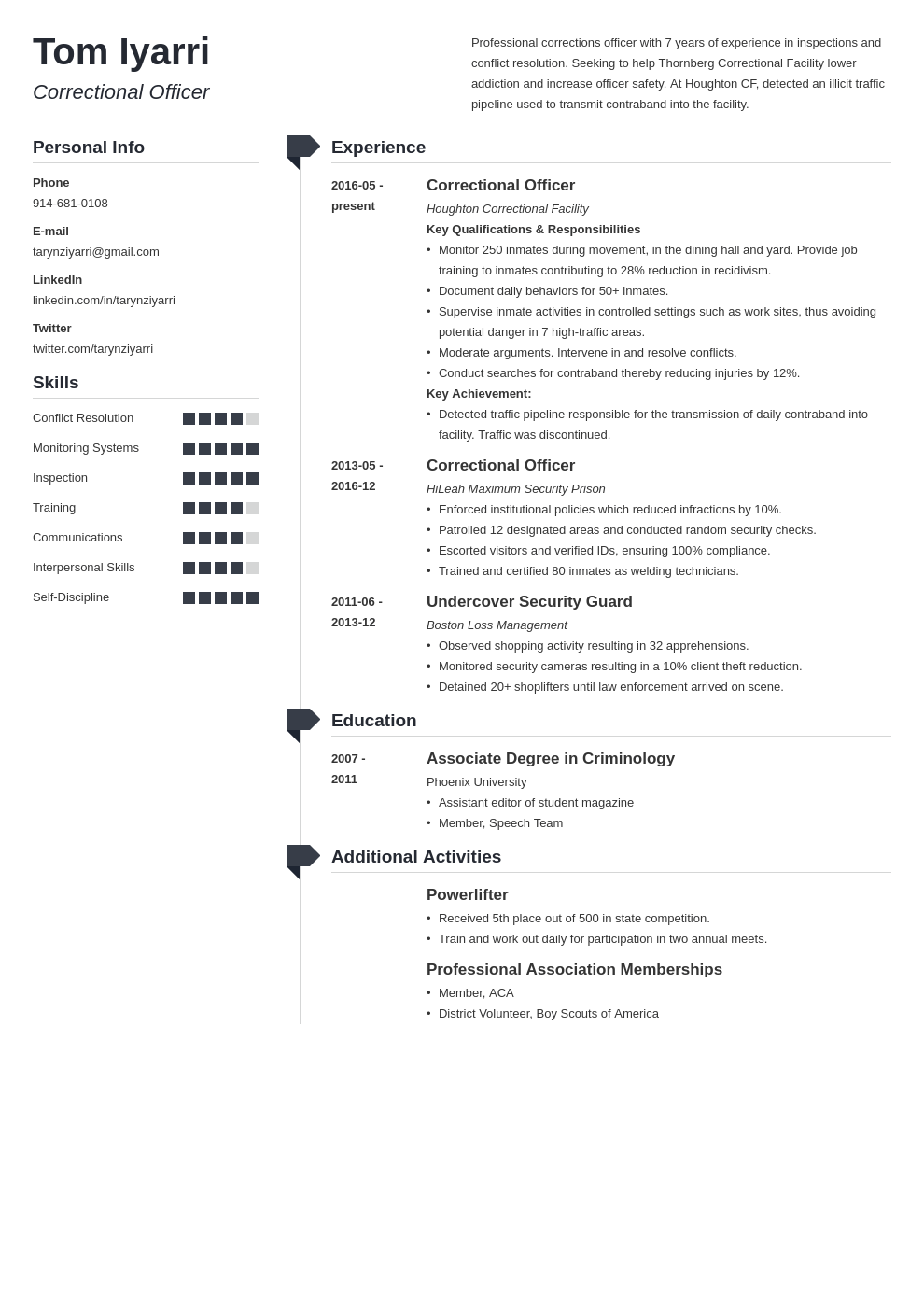 correctional officer resume example template muse
