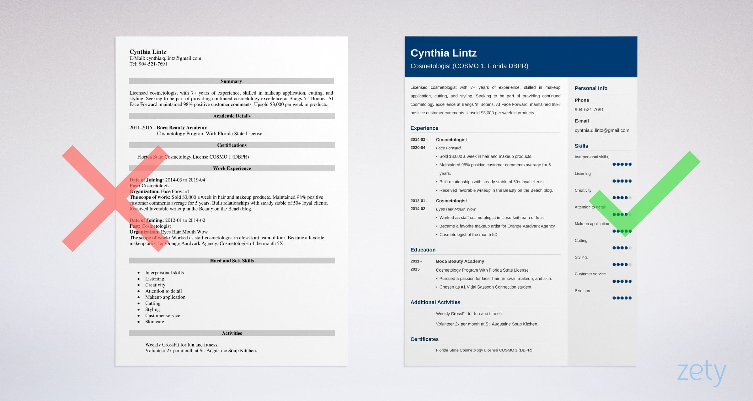 Cosmetology Resume Sample And Complete Writing Guide 20 Tips