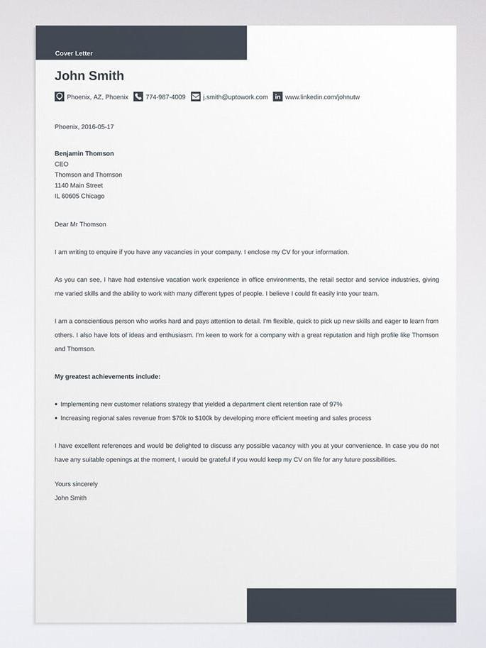 a must have cover letter - Coverletter