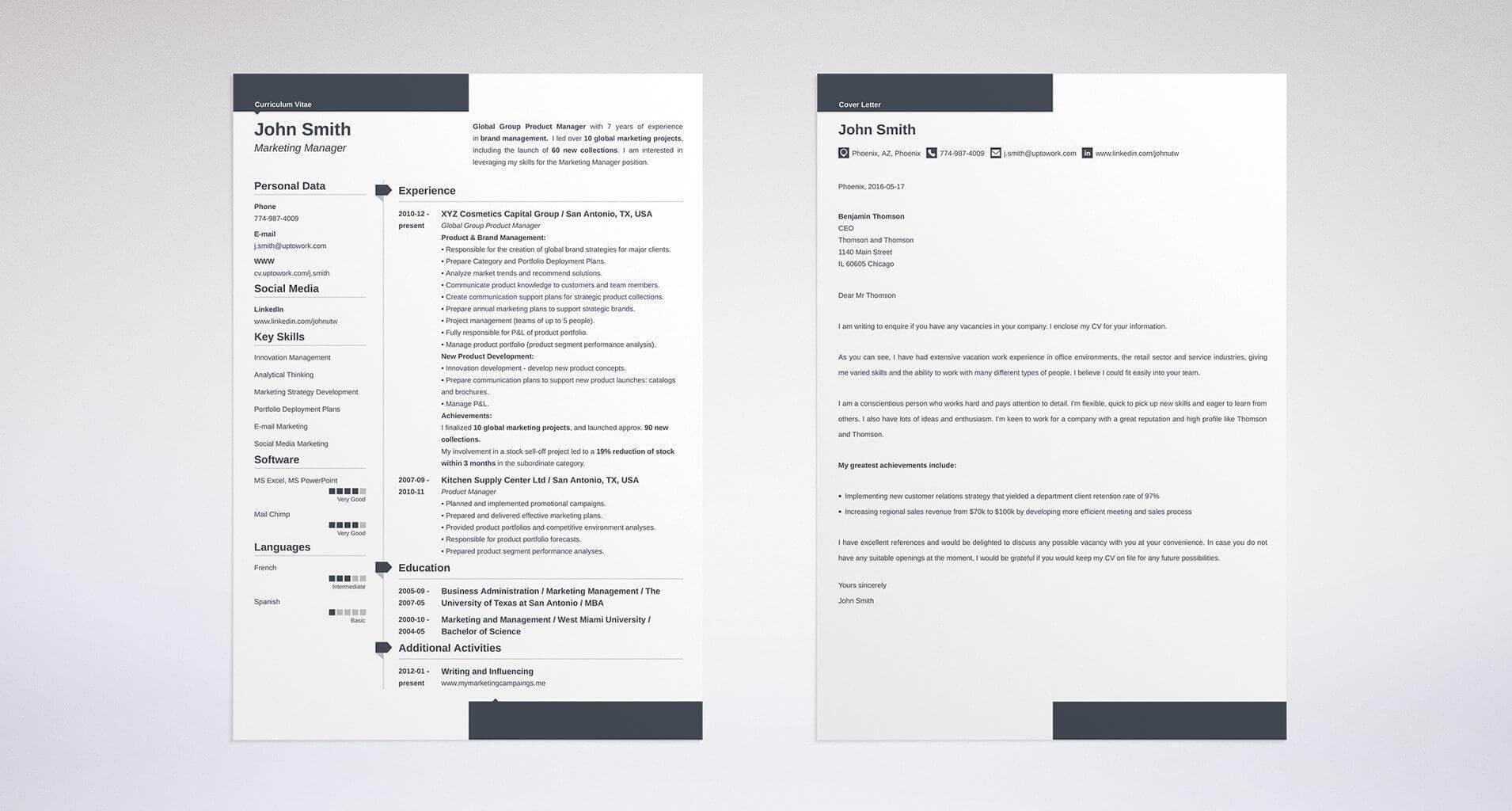 Cover_letter_and_resume_to_send_via_email. See More Templates And Create  Your Resume And Cover Letter ...