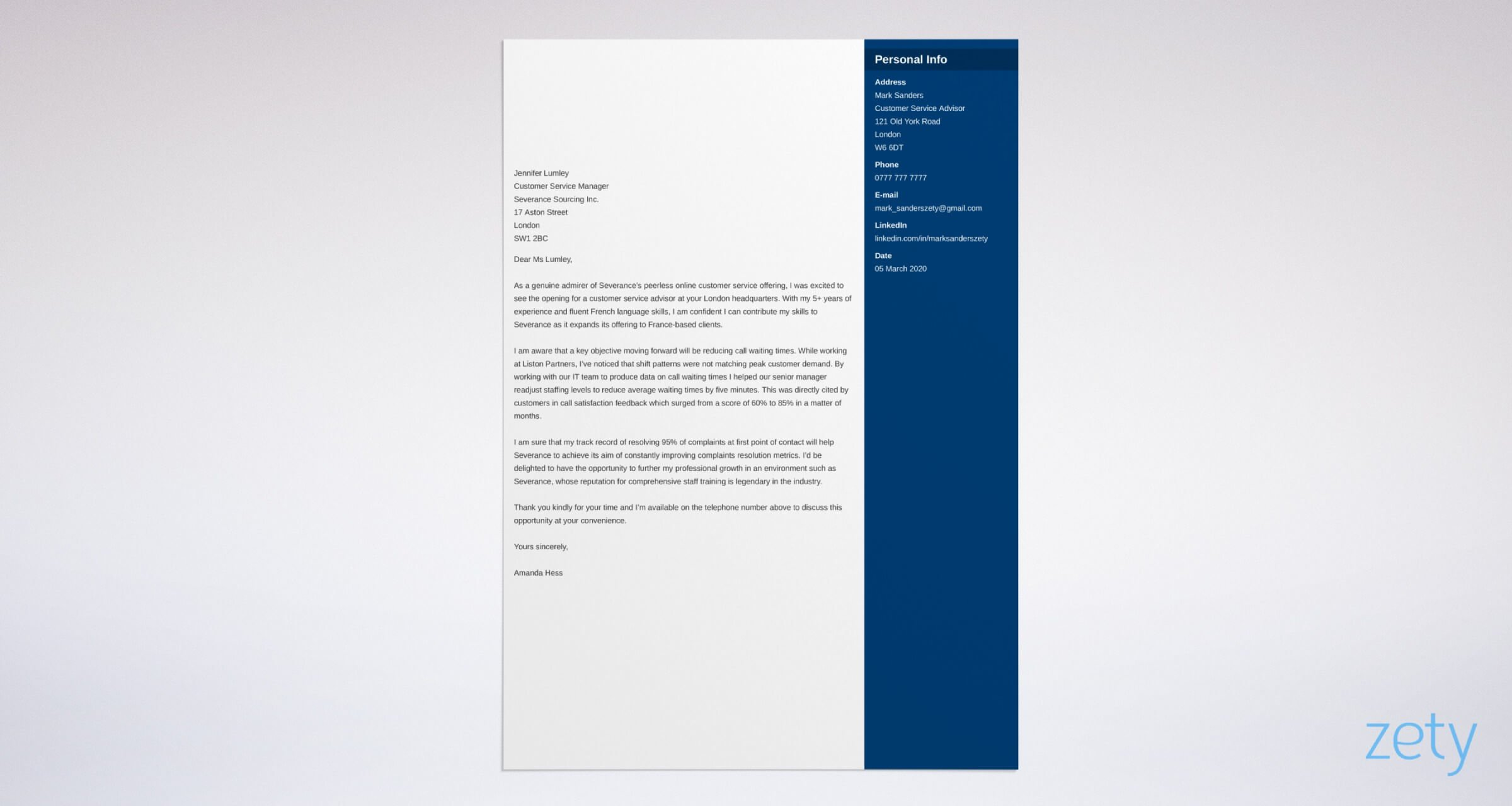 Cover Letter Layout Example and Writing Tips for 2020
