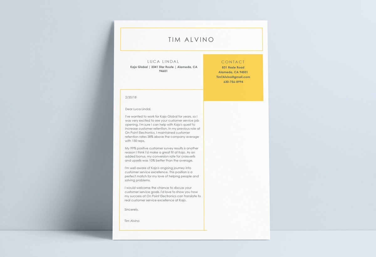 word template cover letter
