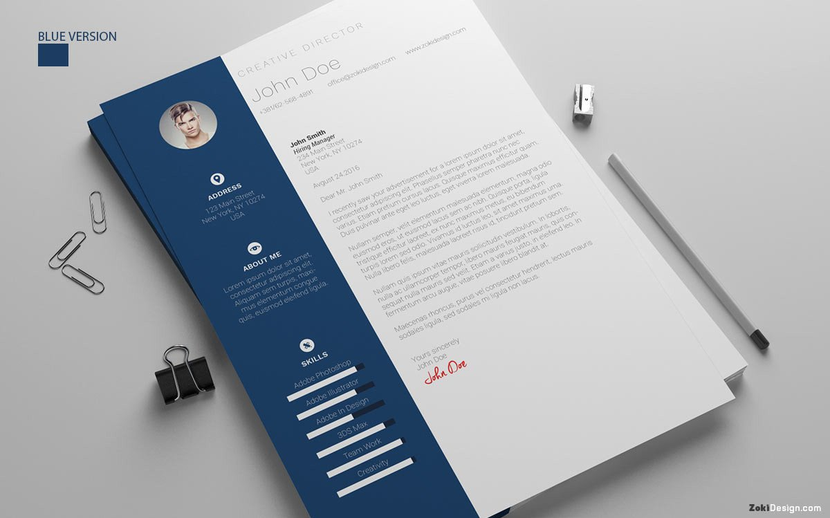 Zoki Designs Free Template Cover Letter Word