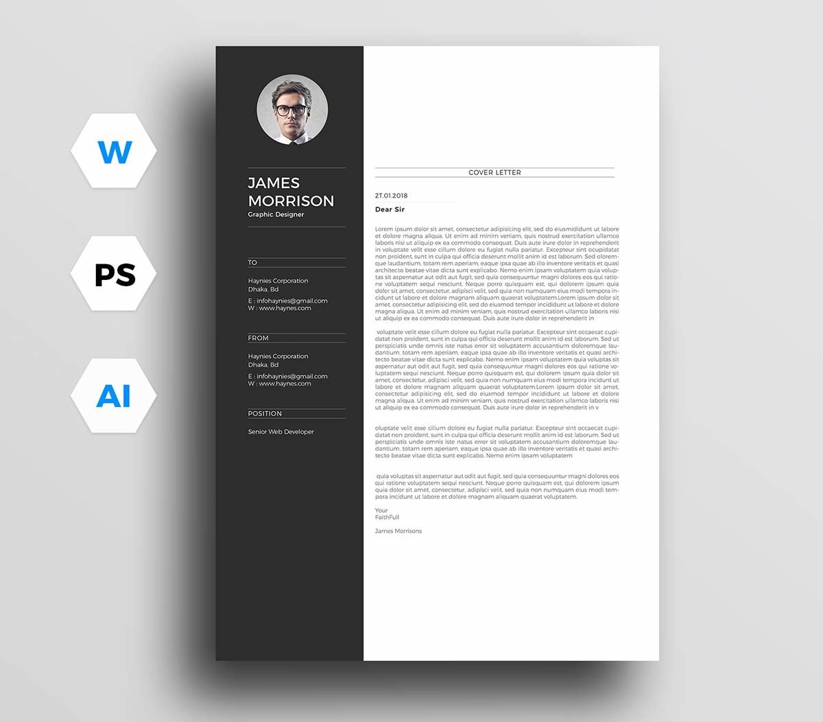 Free Minimal Resume Template Cover Letter Word