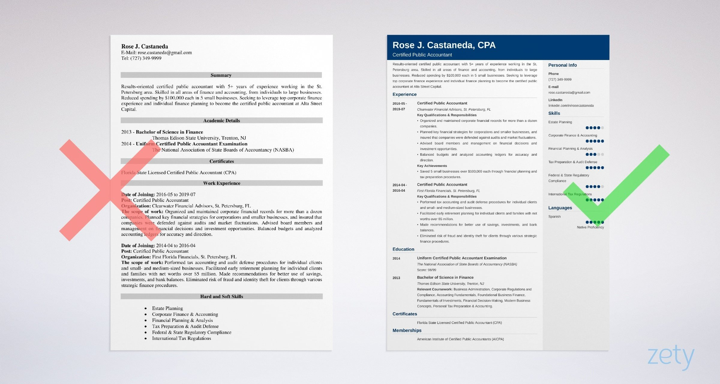 Certified Public Accountant Cpa Resume Sample Guide