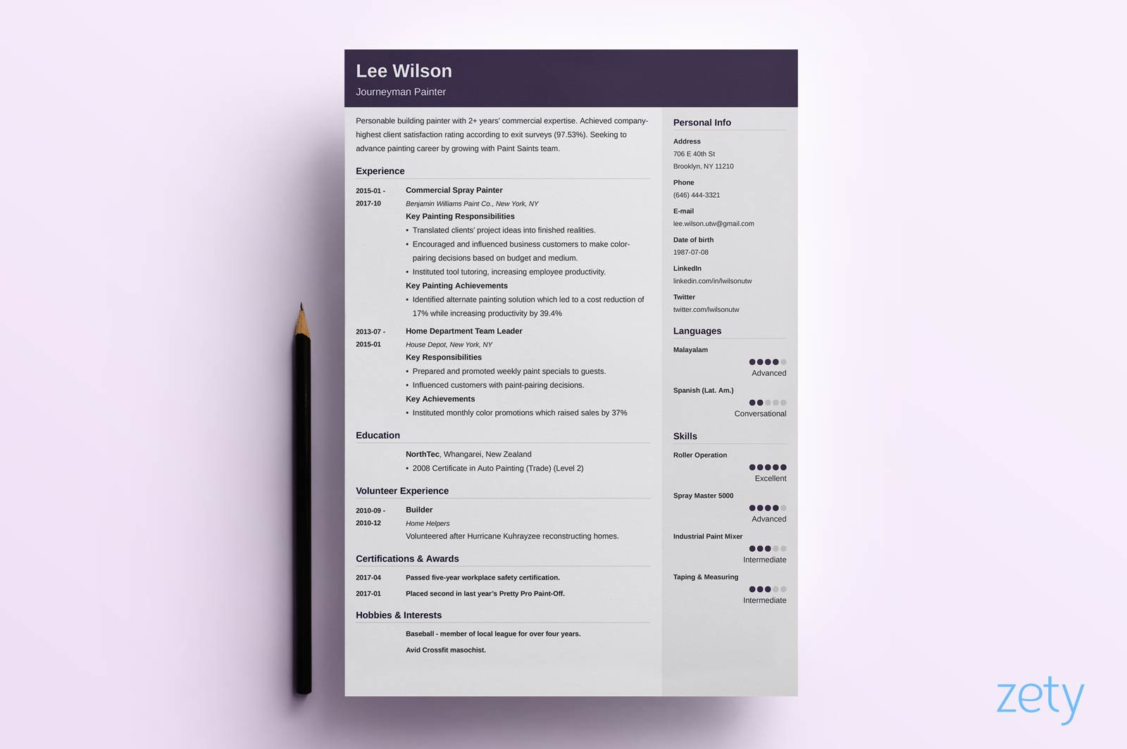 Knowledge Focused Creative Resume Template