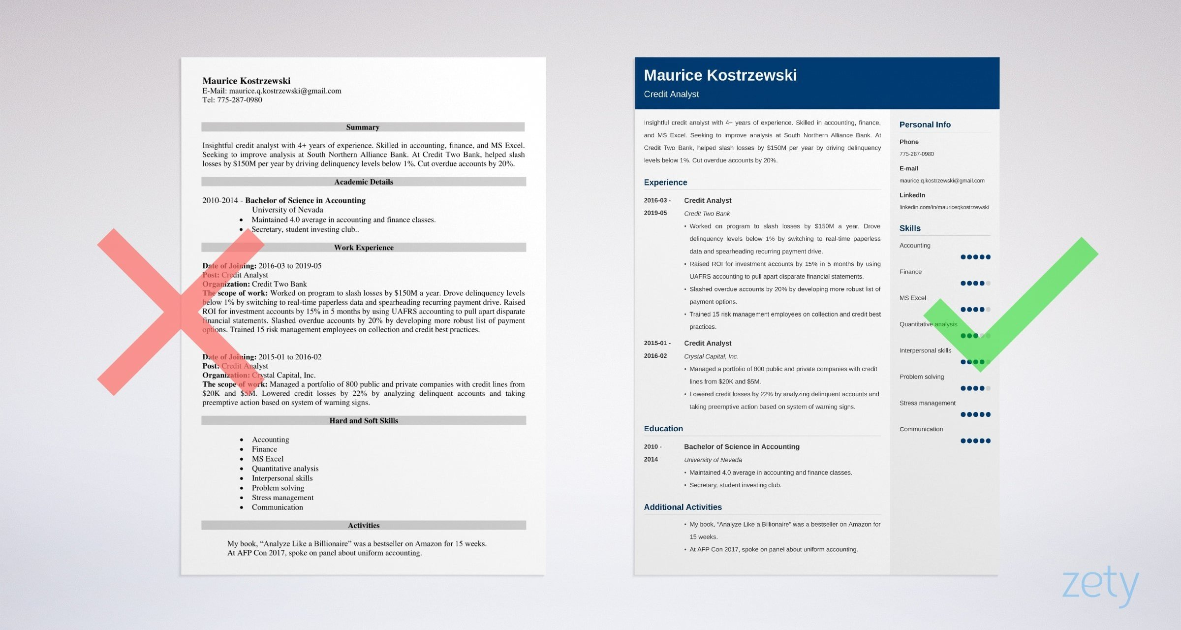 credit analyst resume templates