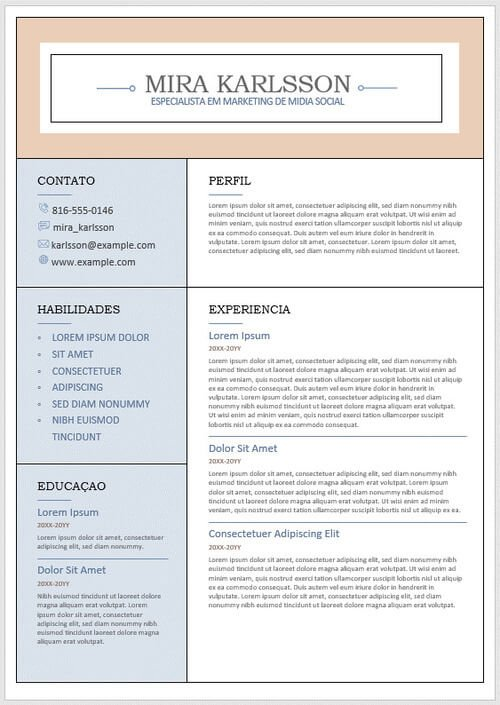 curriculo moderno word