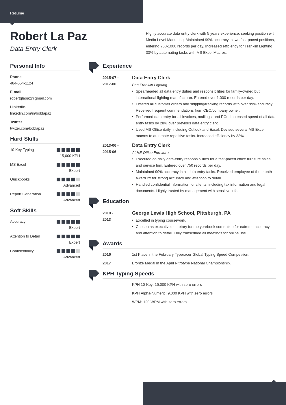 data entry resume example template modern