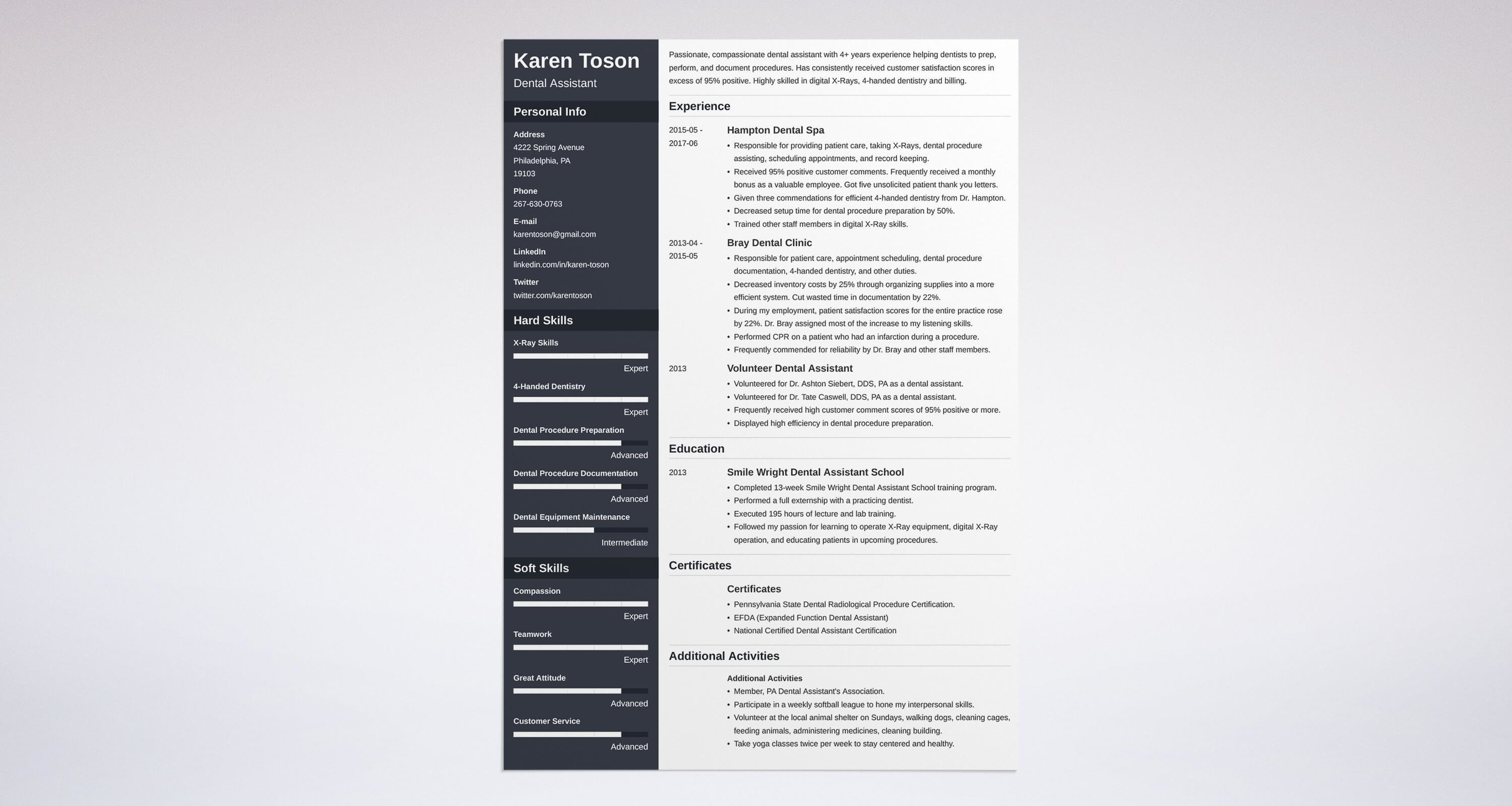 Dental Assistant Resume Sample & plete Guide [20 Examples]