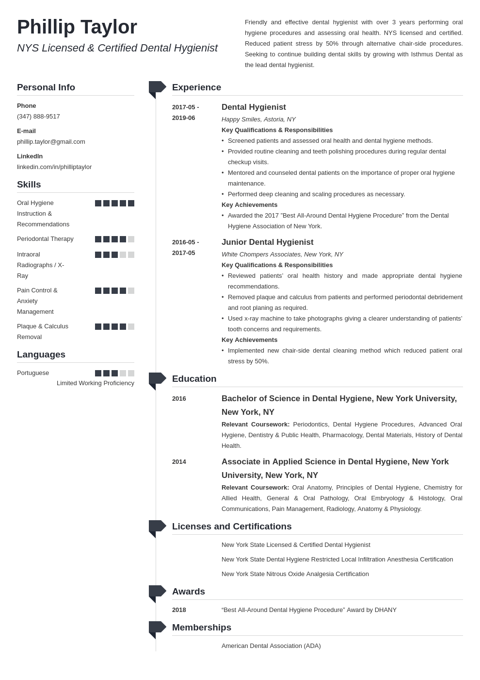 dental hygiene resume example template muse