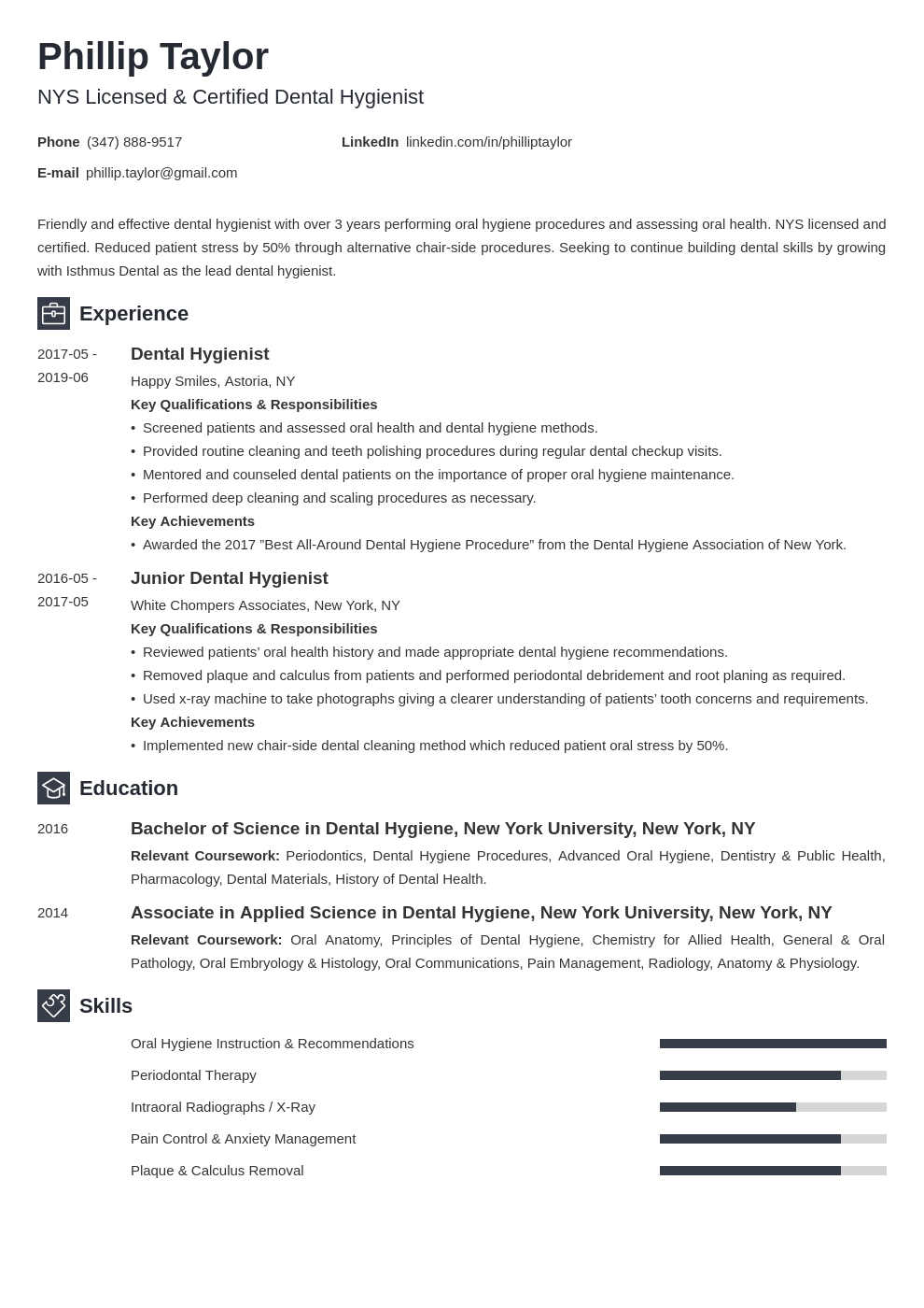 dental hygiene resume example template newcast