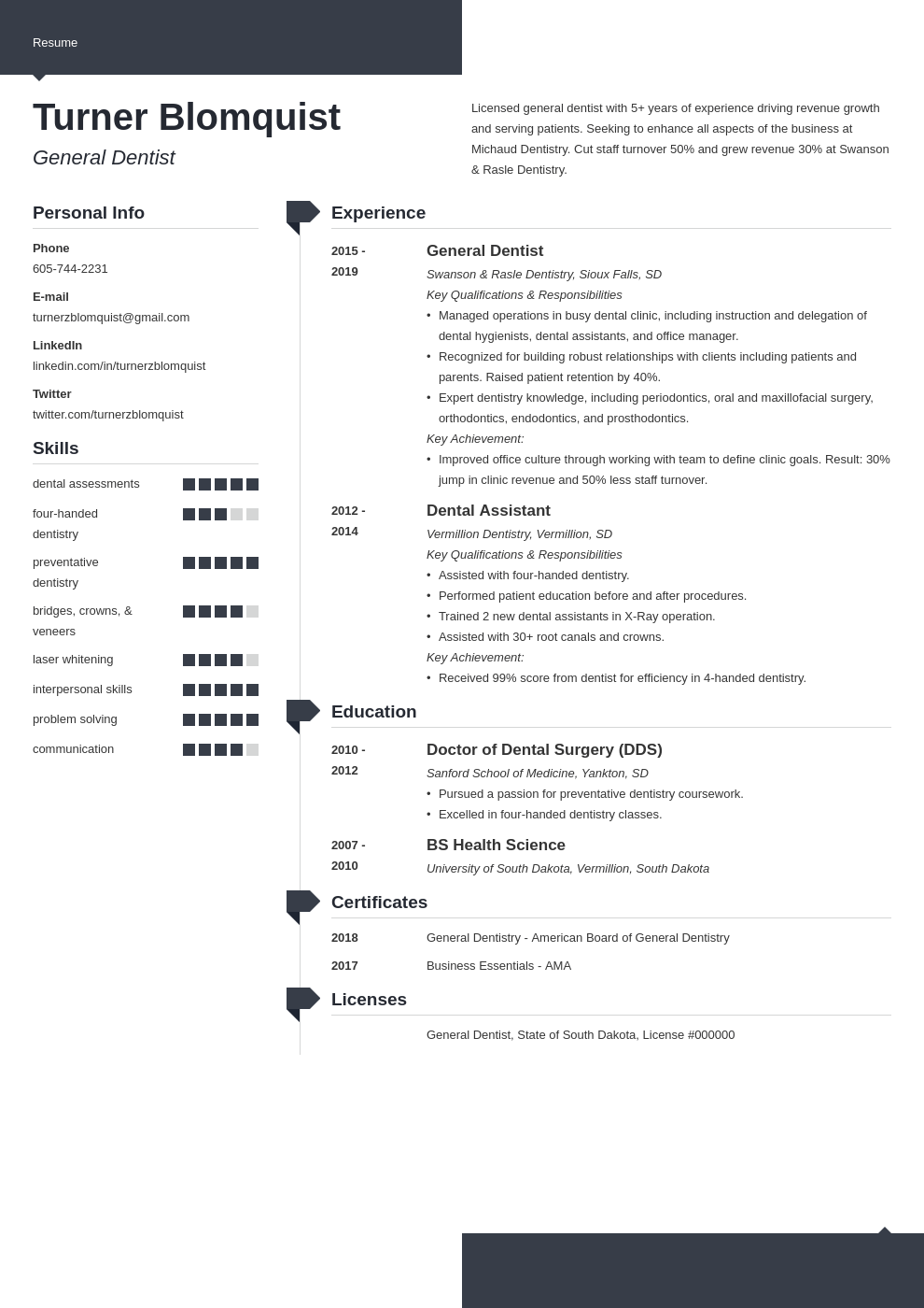 dentist resume example template modern
