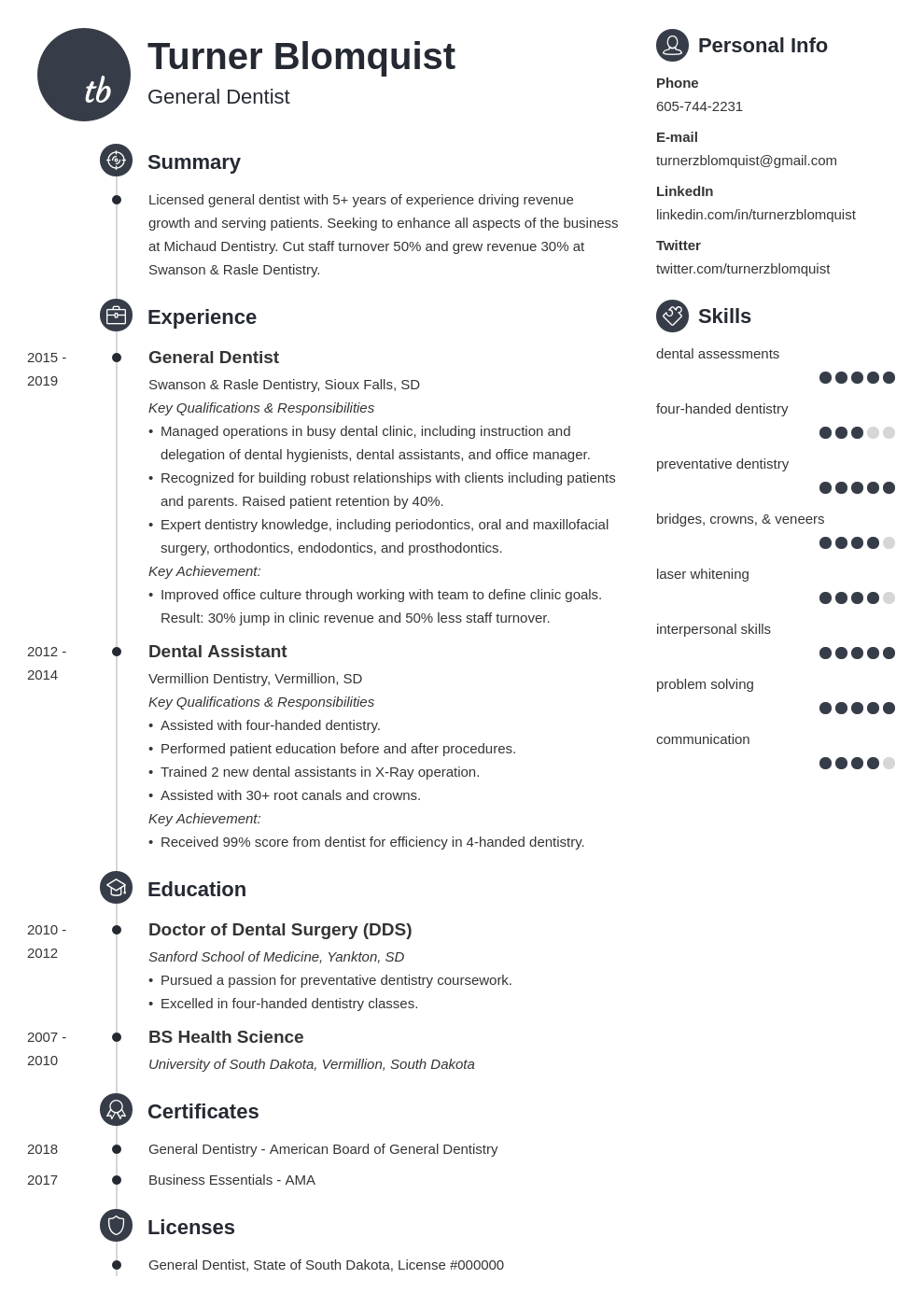 dentist resume example template primo