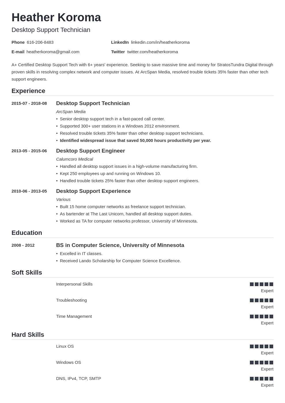 desktop support resume example template nanica