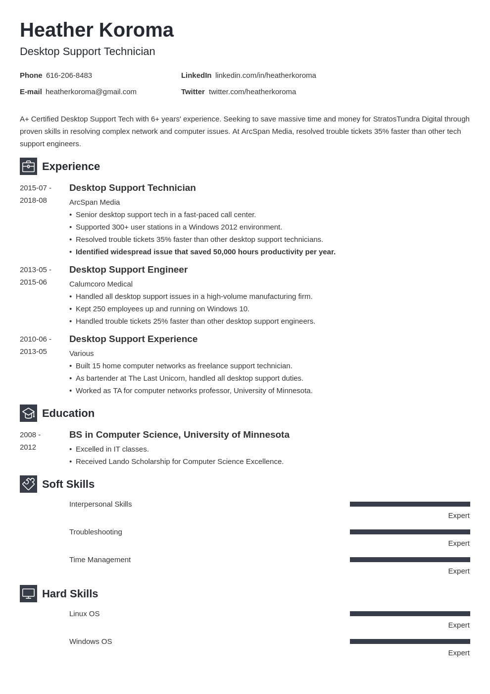 desktop support resume example template newcast