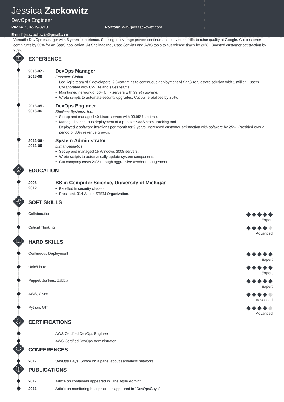 Devops Engineer Resume Headline Best Resume Ideas