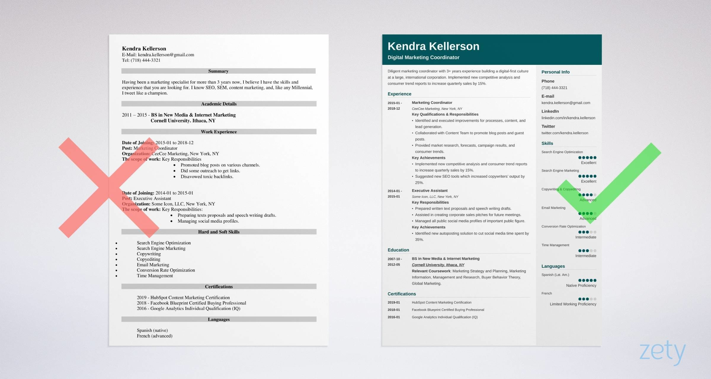 digital marketing resume examples  guide  u0026 best templates