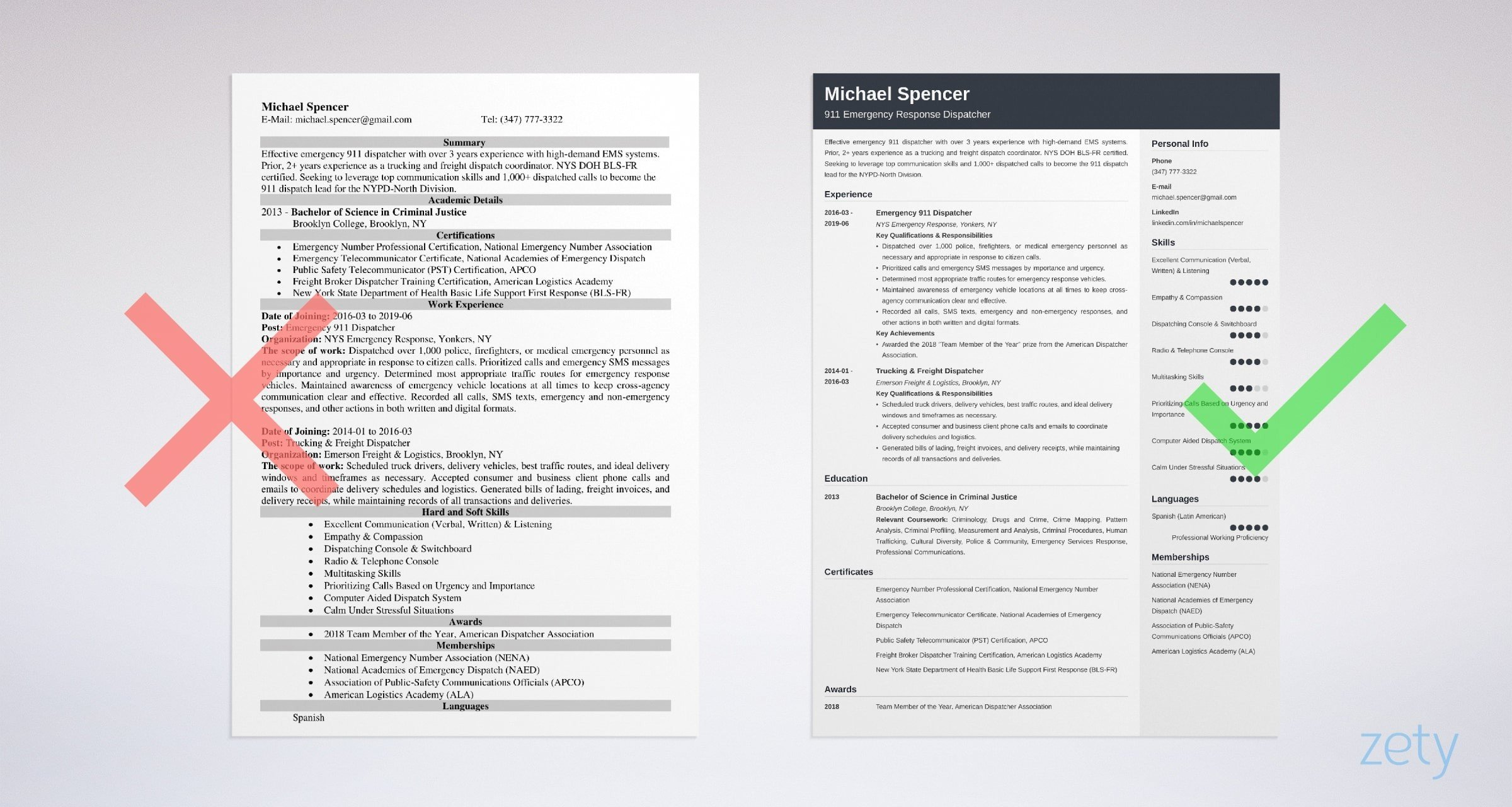Dispatcher Resume Examples With Job Description Sample