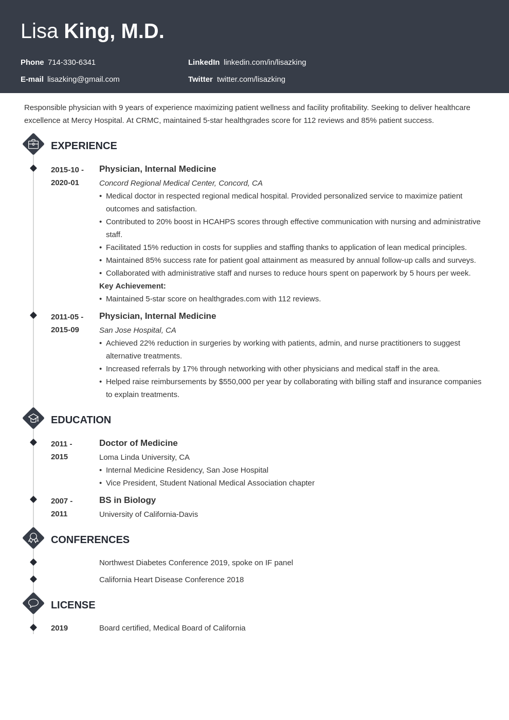 doctor resume example template diamond