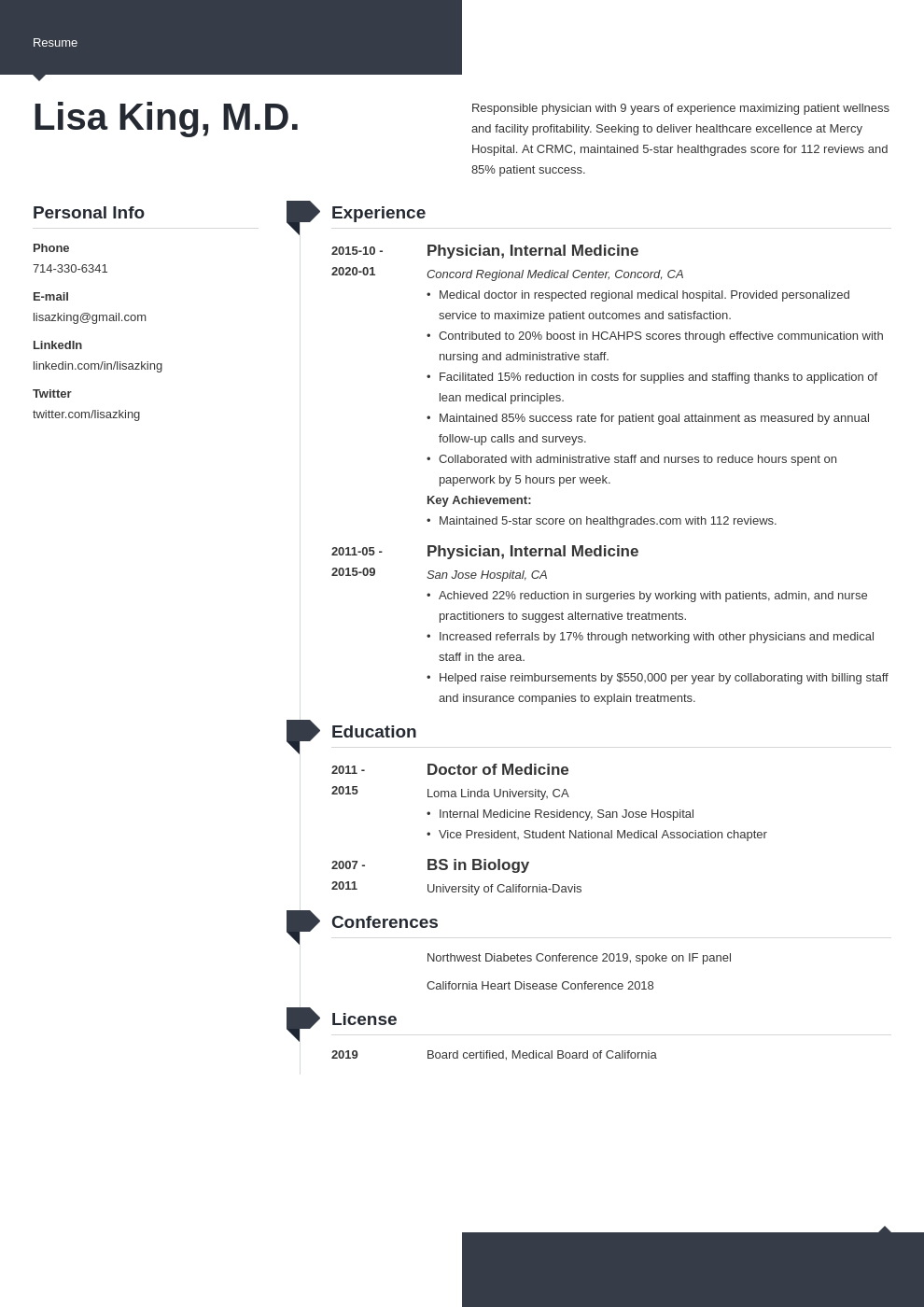 doctor resume example template modern