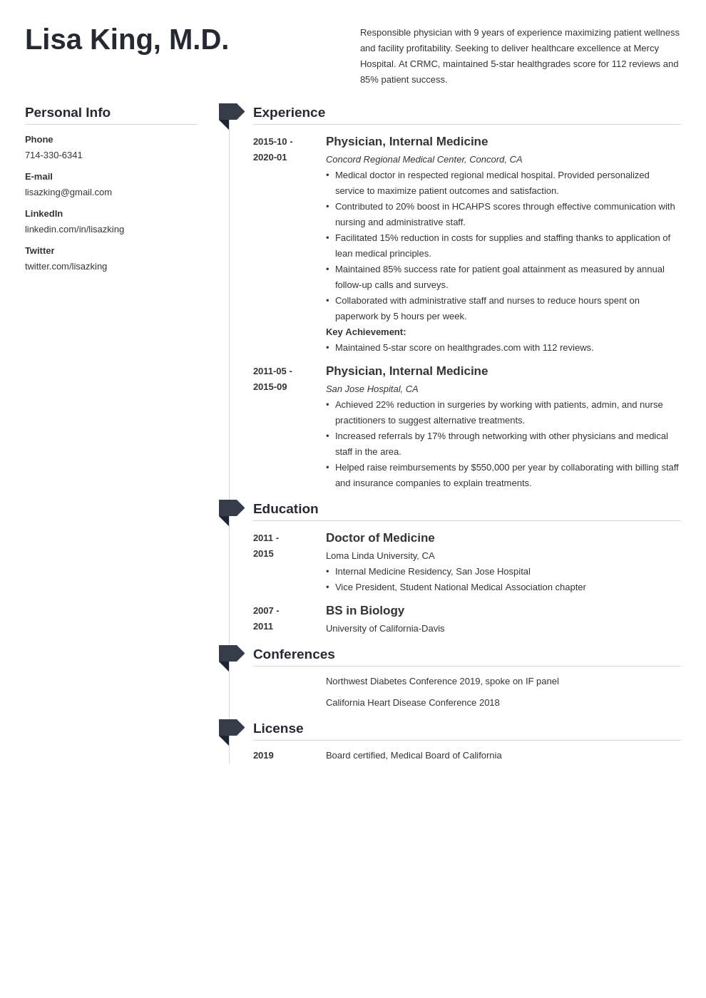 doctor resume example template muse