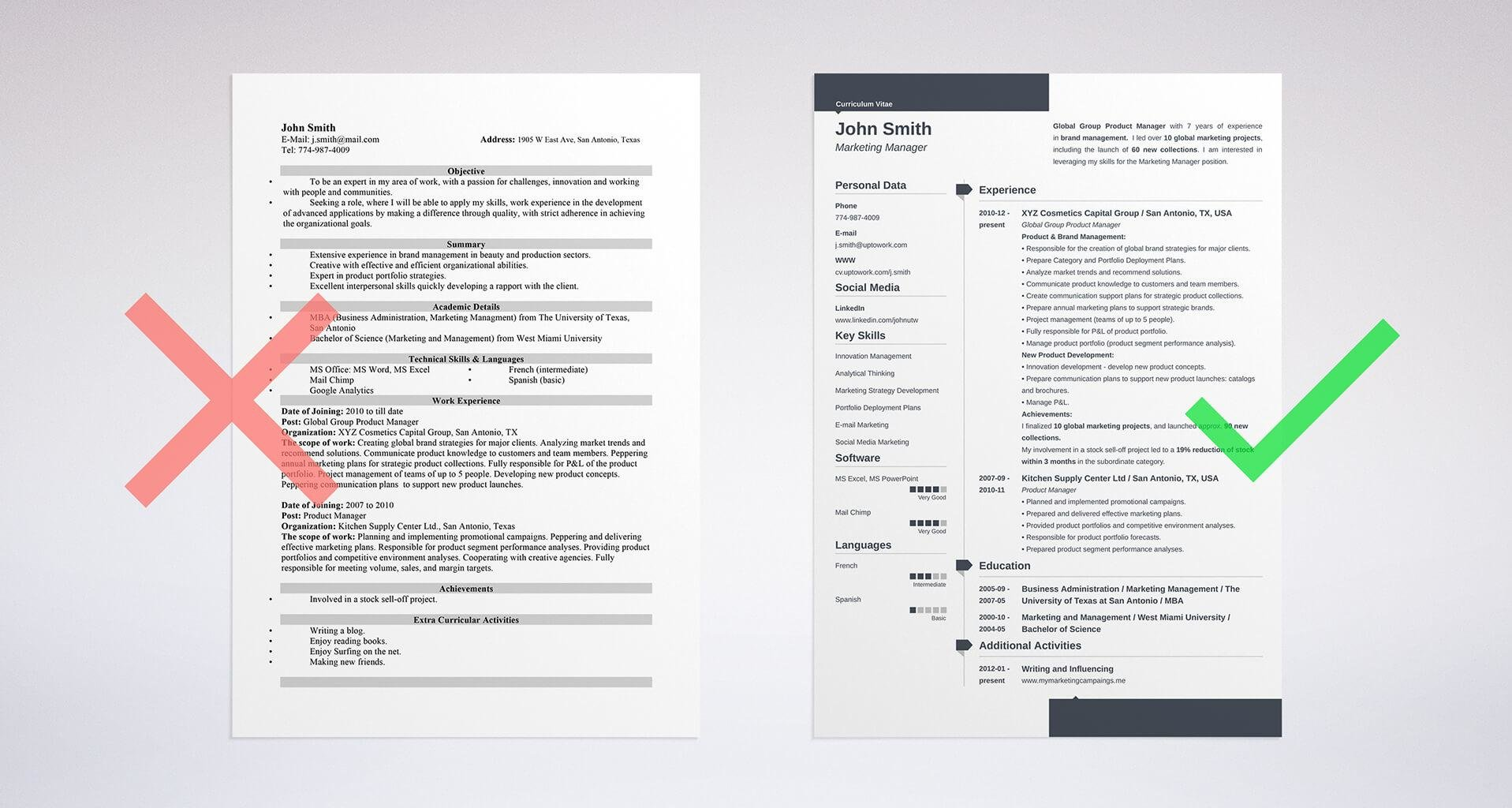 education on a resume template