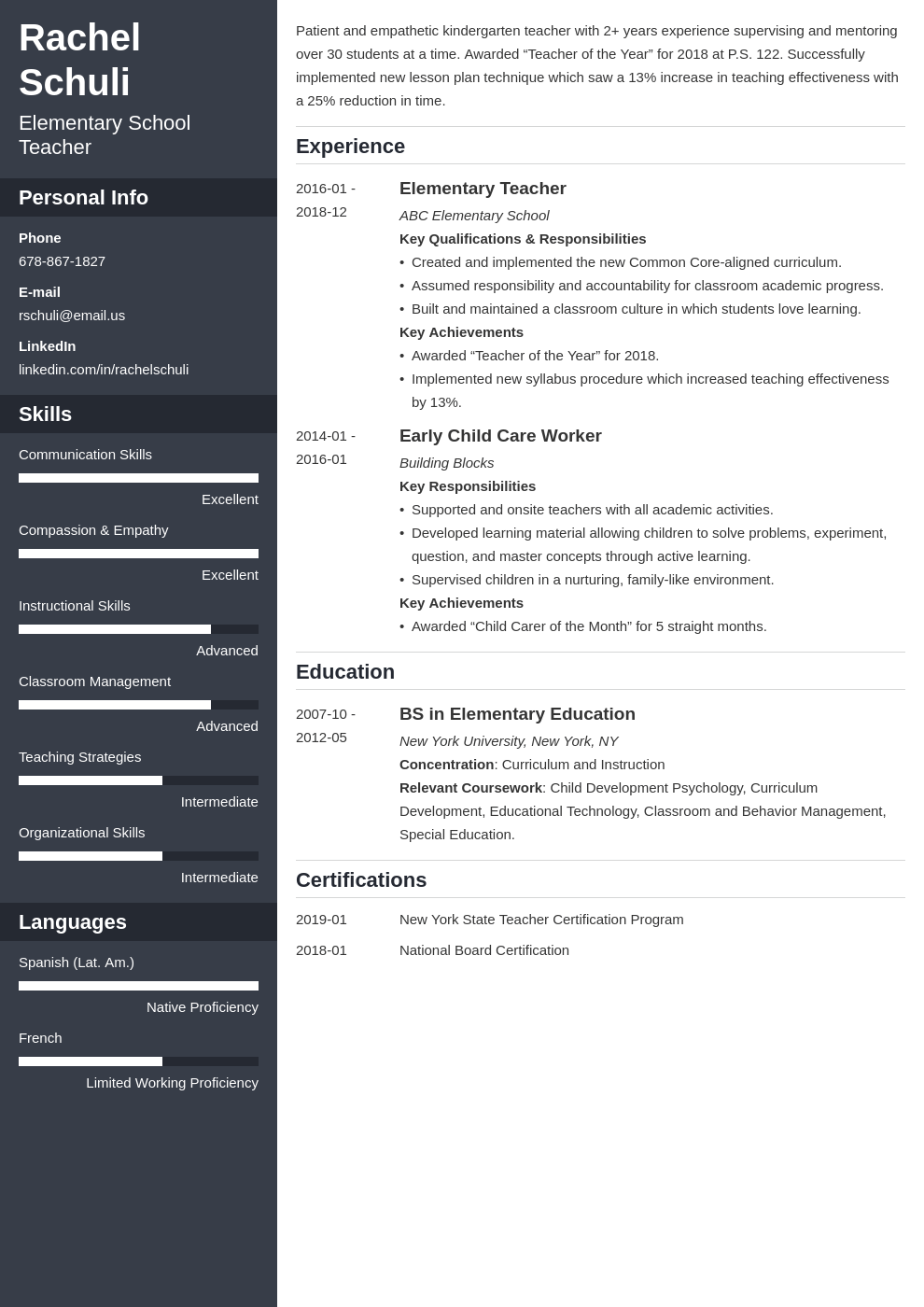 education resume example template cascade