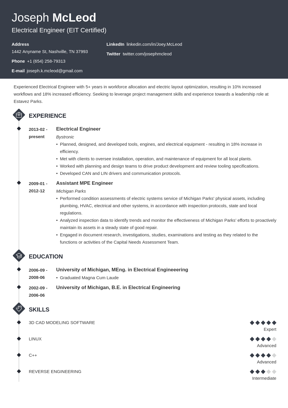 electrical engineering resume example template diamond
