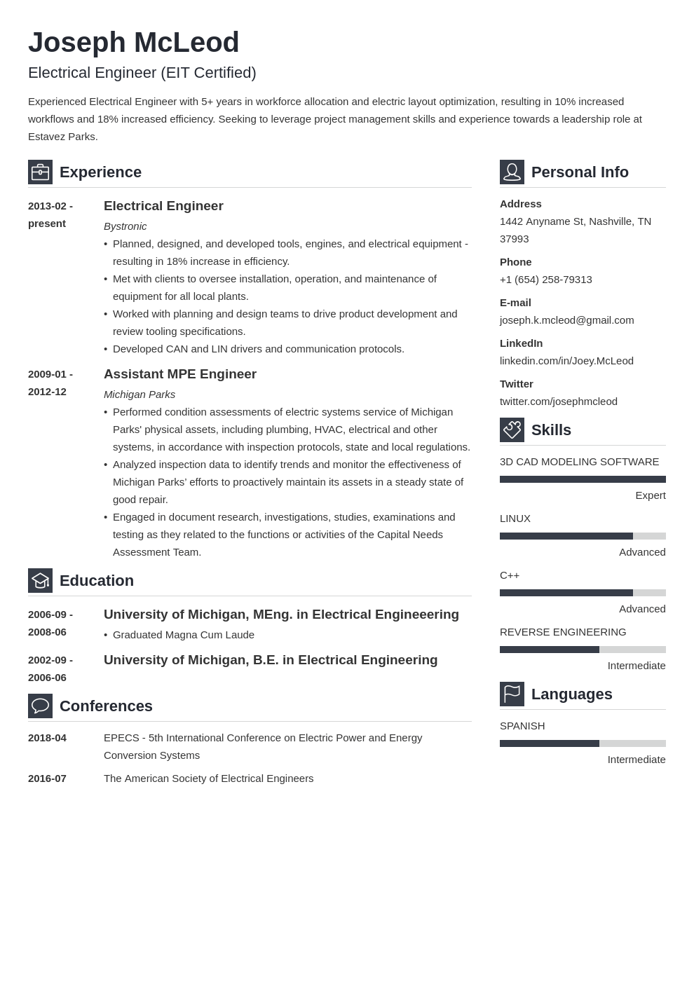 electrical engineering resume example template vibes