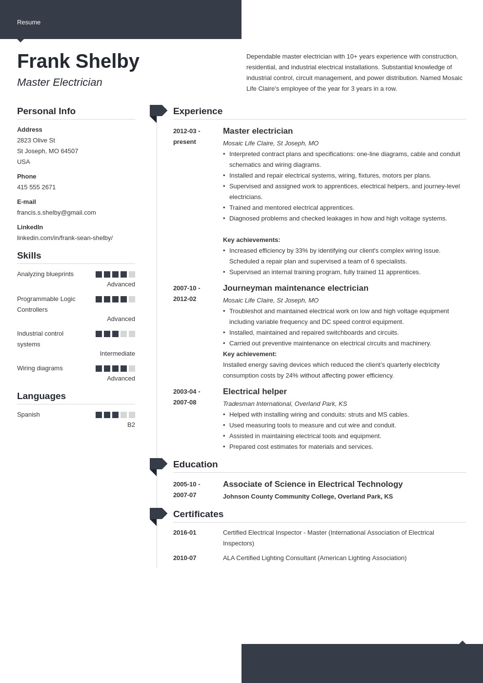 electrician resume example template modern
