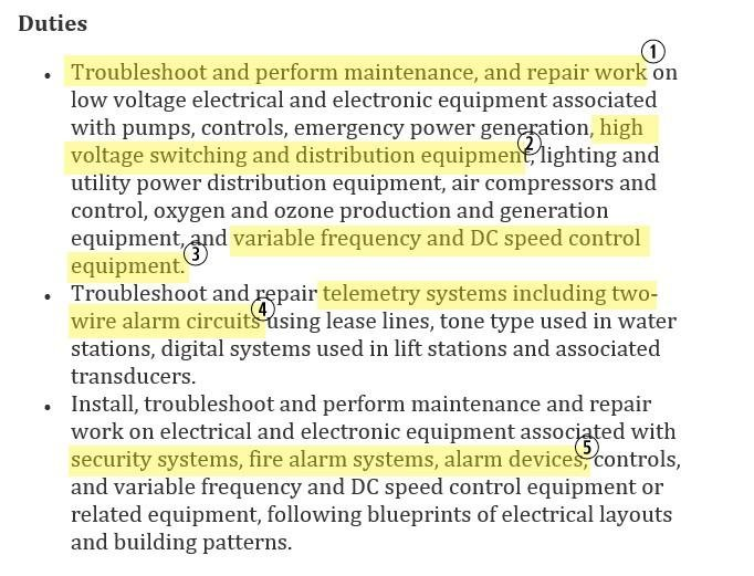 Hereu0027s A Sample Maintenance Journeyman Electrician Job Description: Electrician  Resume Job Description  Electrician Resume Templates