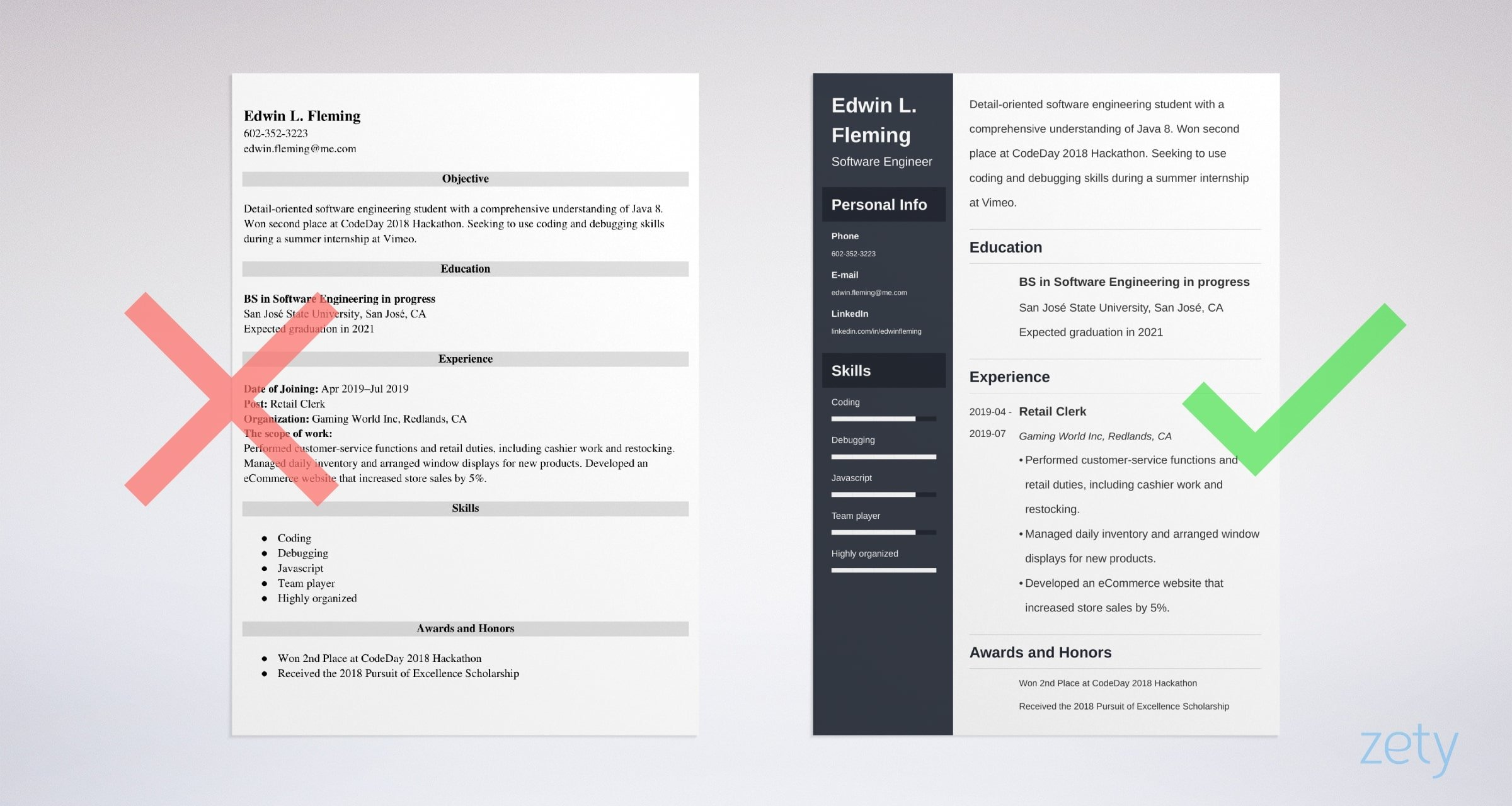 Engineering Internship Resume Examples Guide For Students