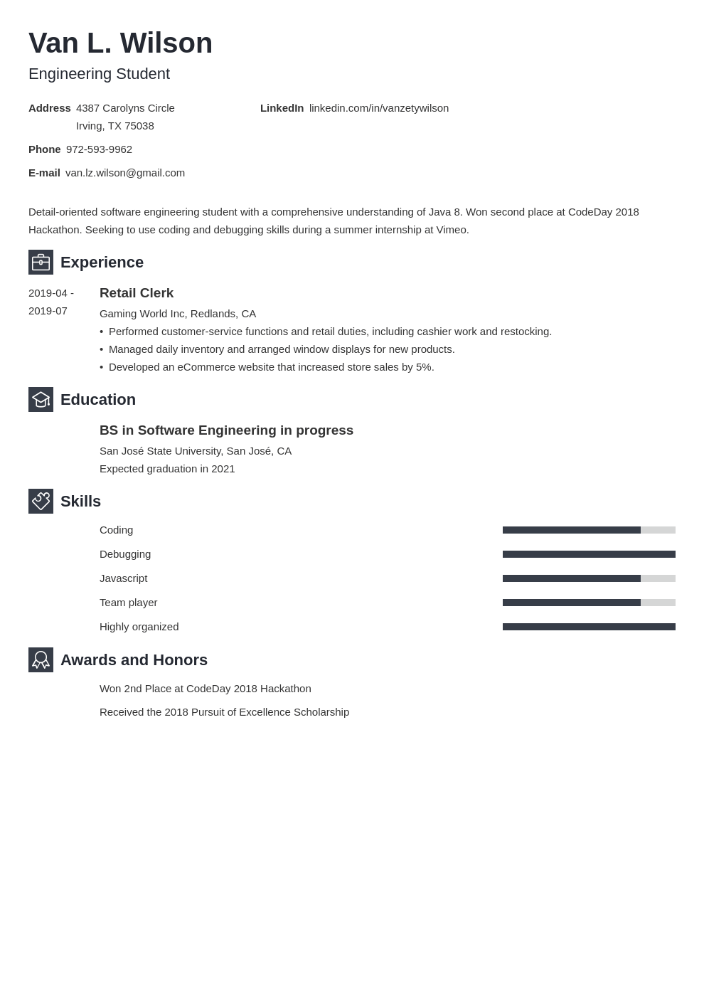 engineering internship resume example template newcast