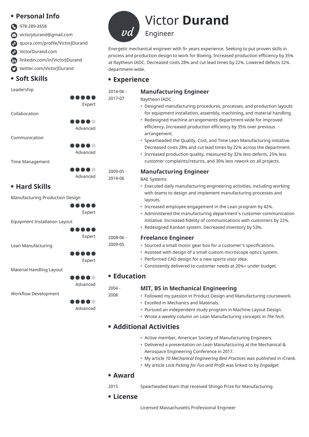 12+ Engineering Resume Examples (Template, Guide & Skills)