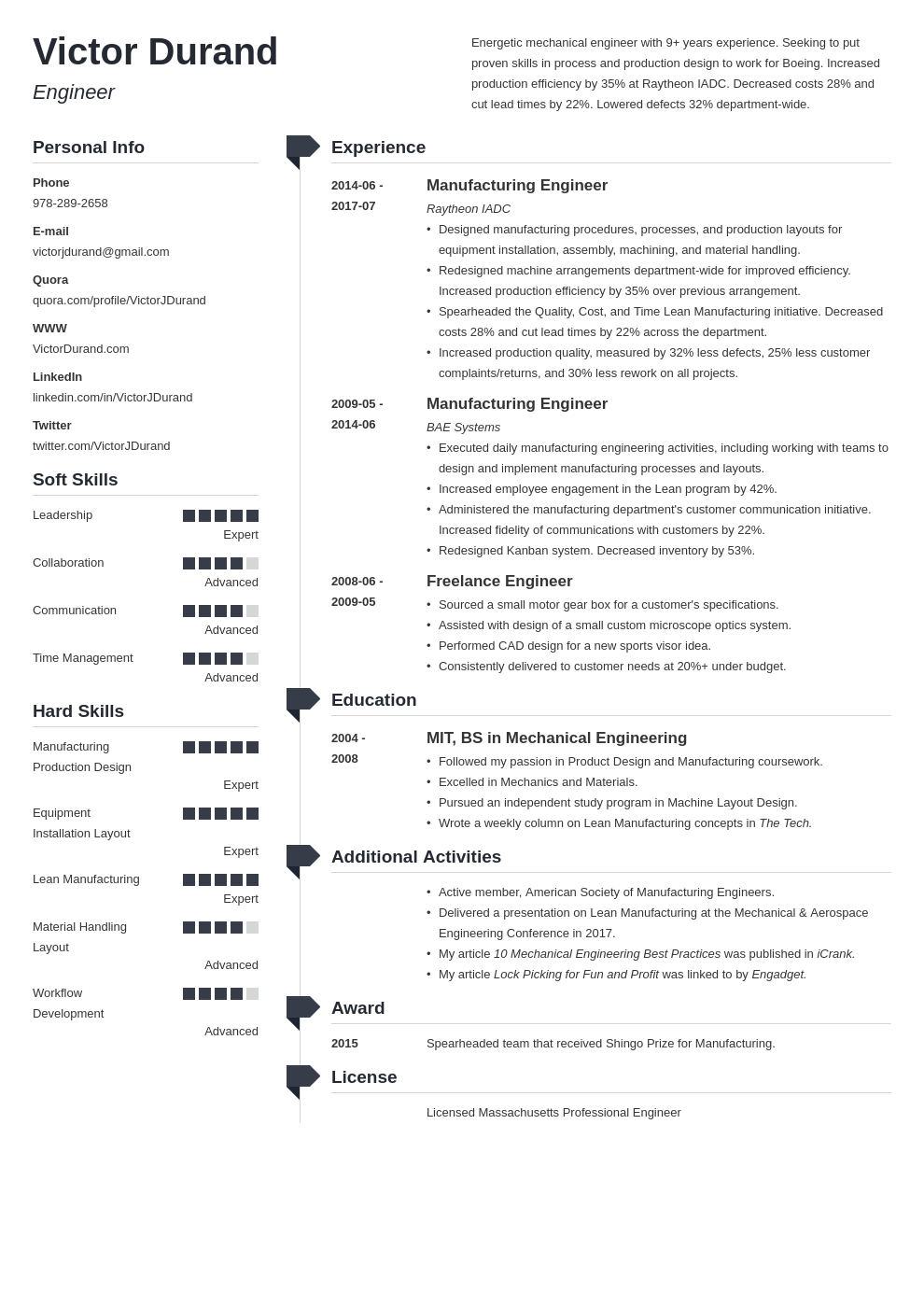 engineering resume example template muse