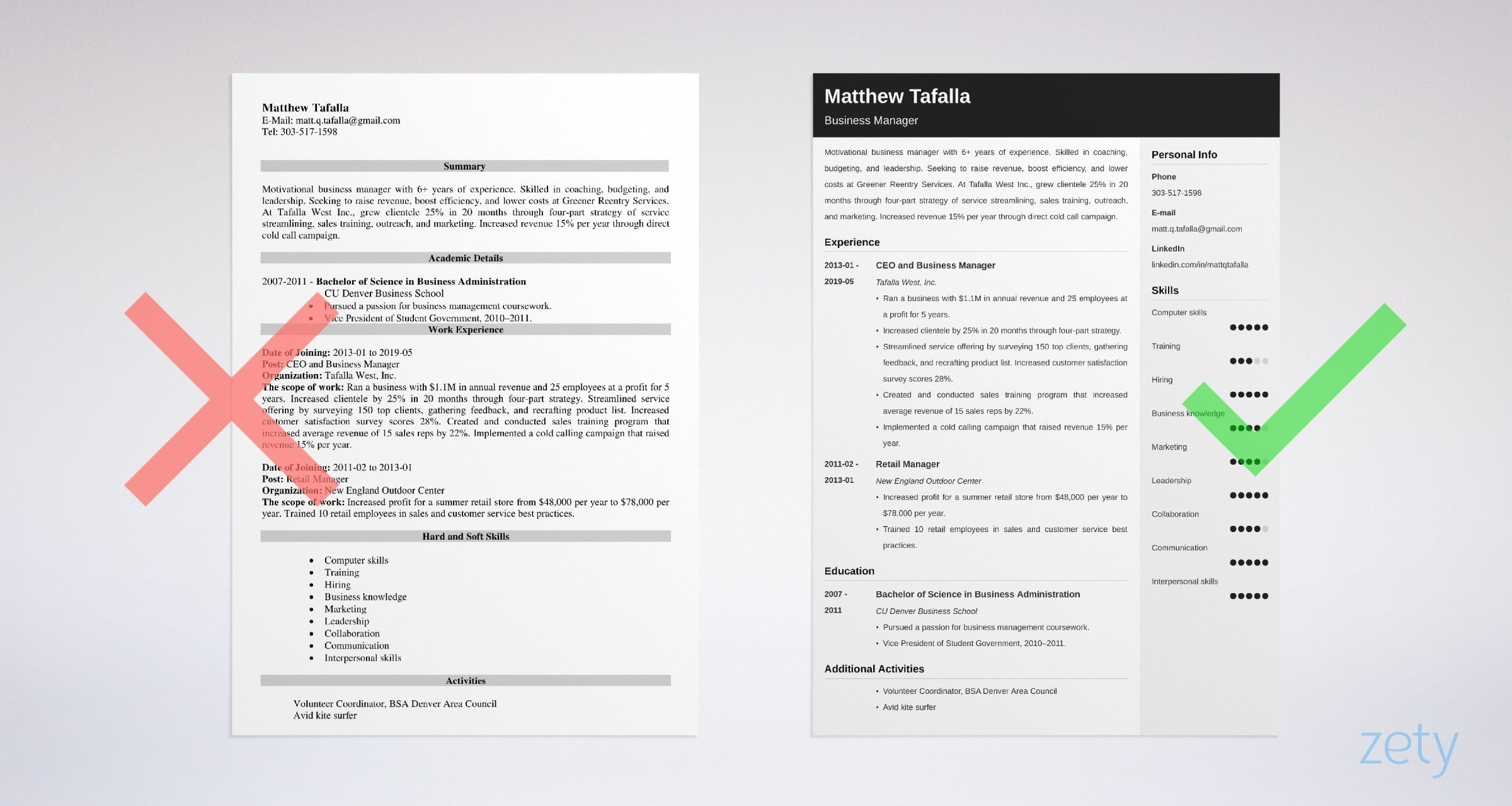 entrepreneur resume templates