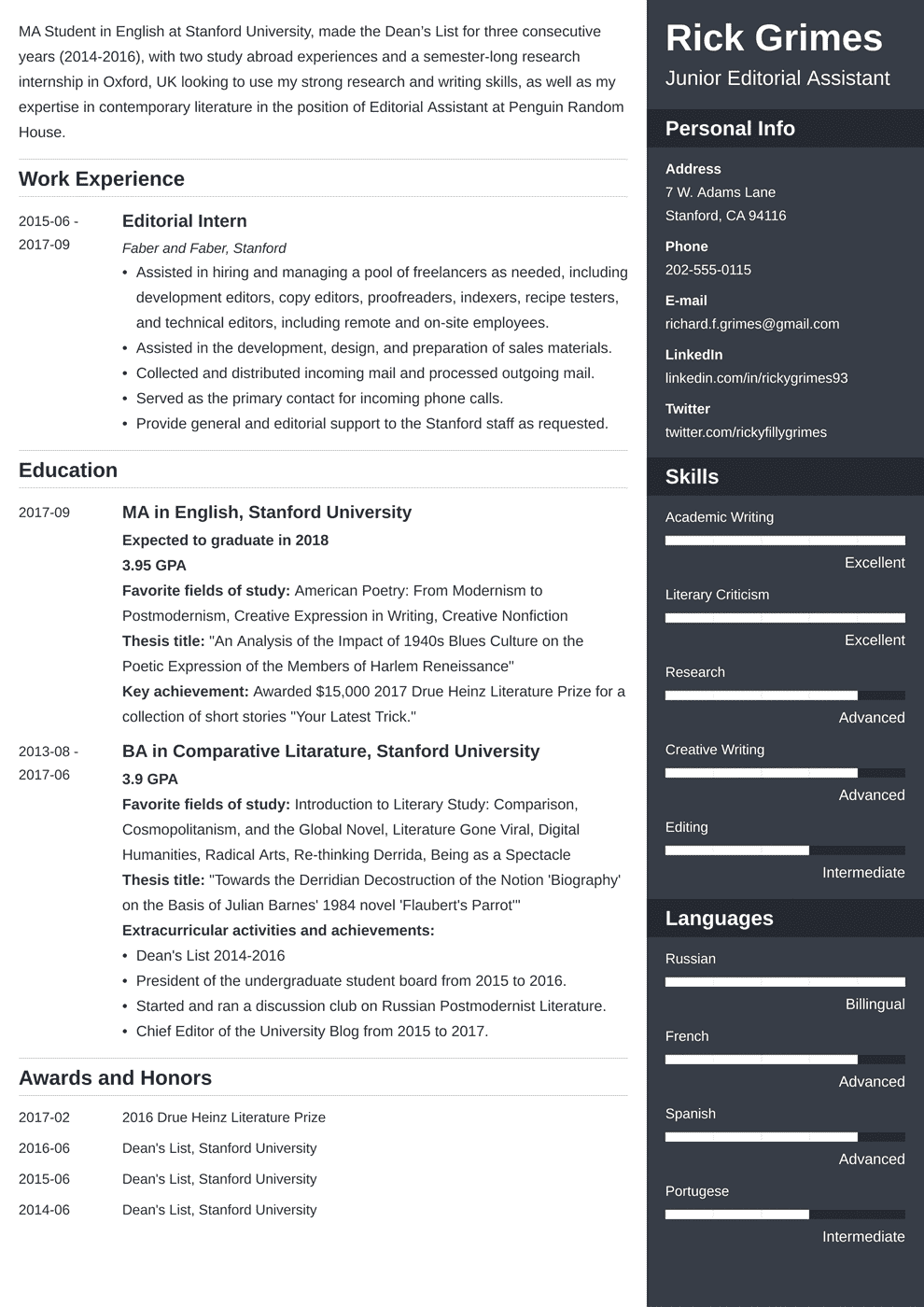 Entry Level Resume Summary.Entry Level Resume Sample And Complete Guide 20 Examples
