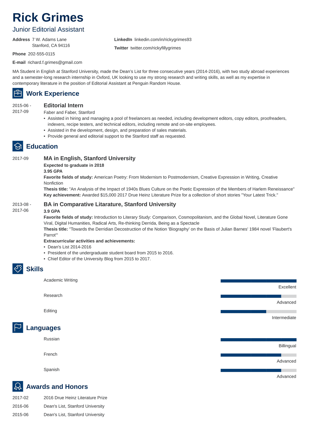 Entry Level Resume: Template & Guide [20+ Examples]