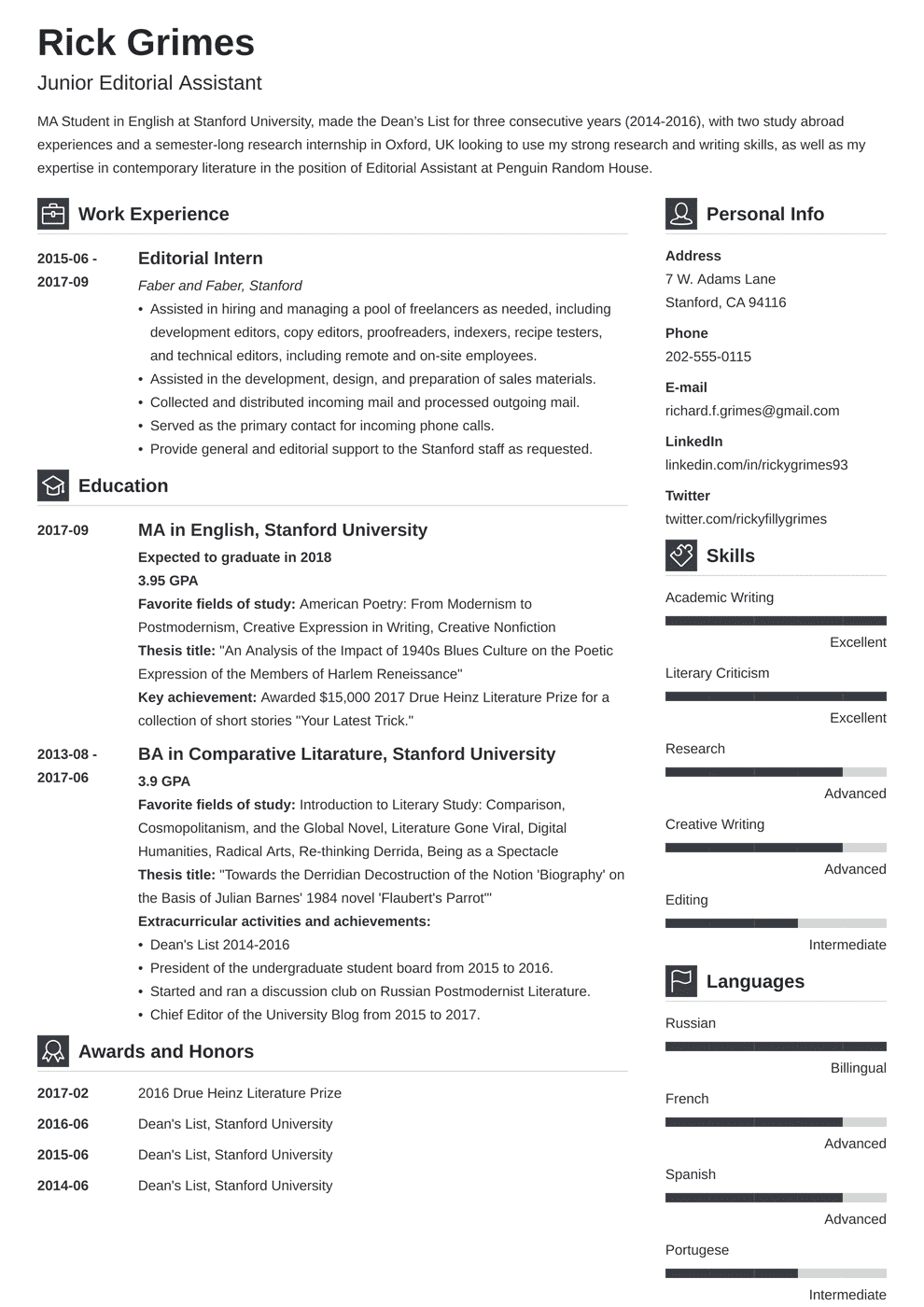 Entry Level Resume Sample And Complete Guide 20 Examples