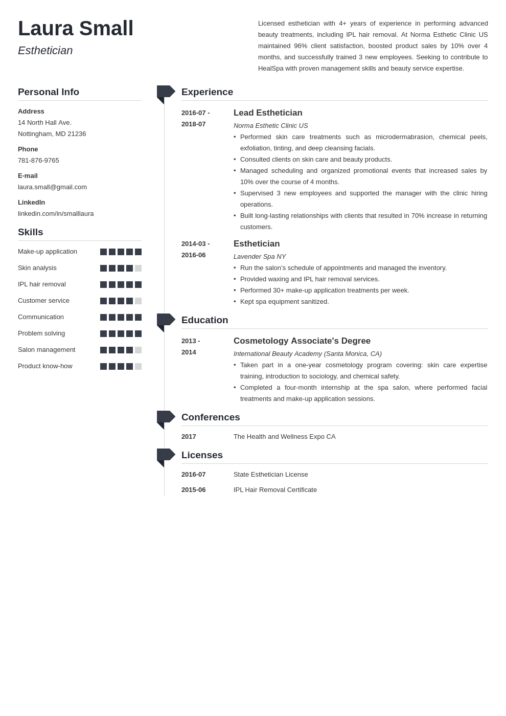 esthetician resume example template muse