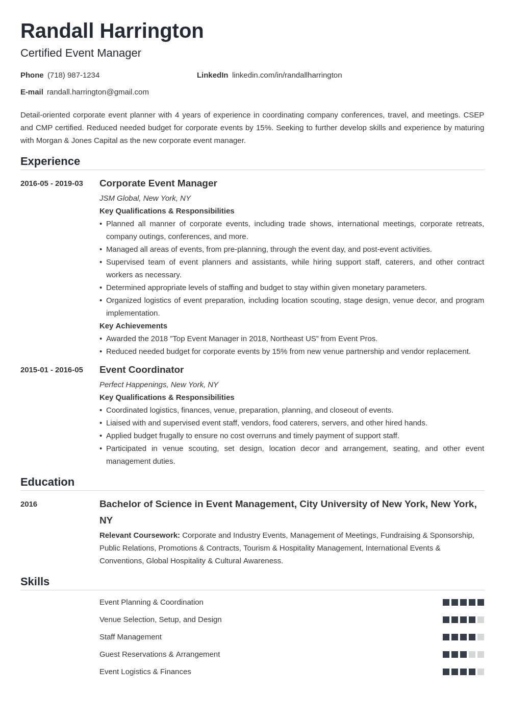 Event Coordinator Cover Letter No Experience from cdn-images.zety.com