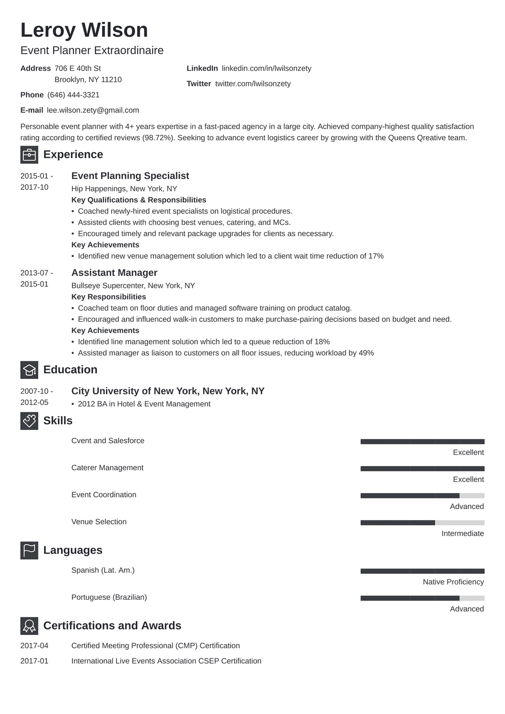 Event Planner Resume: Sample & Complete Guide [20+ Examples]