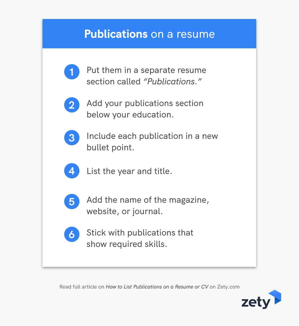 Everything you need to know about publications on a resume